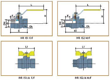 Краны шаровые латунные (VALTEC, JIF) - Водопроводные